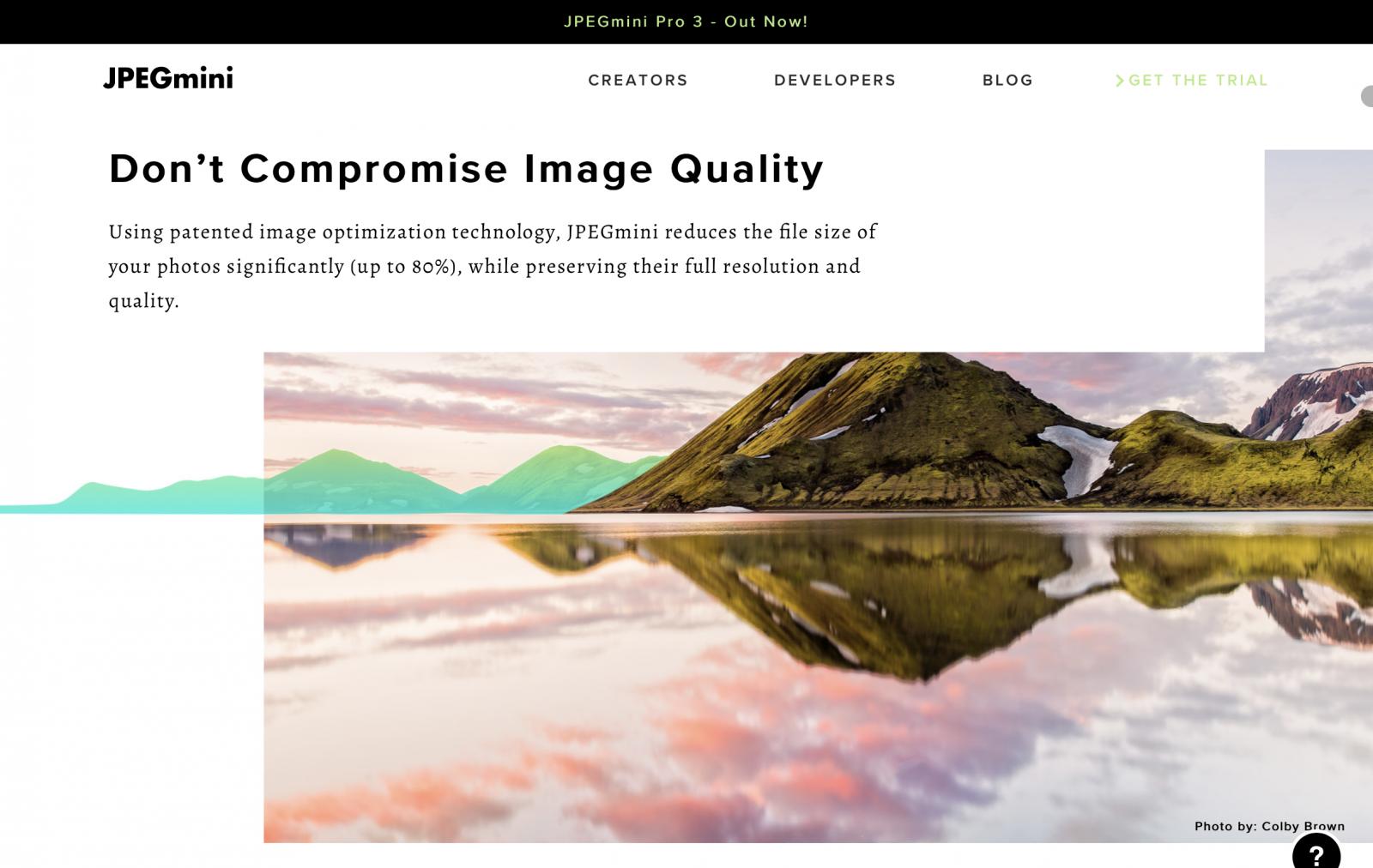 Jpeg-mini Empfehlung für Fotografen