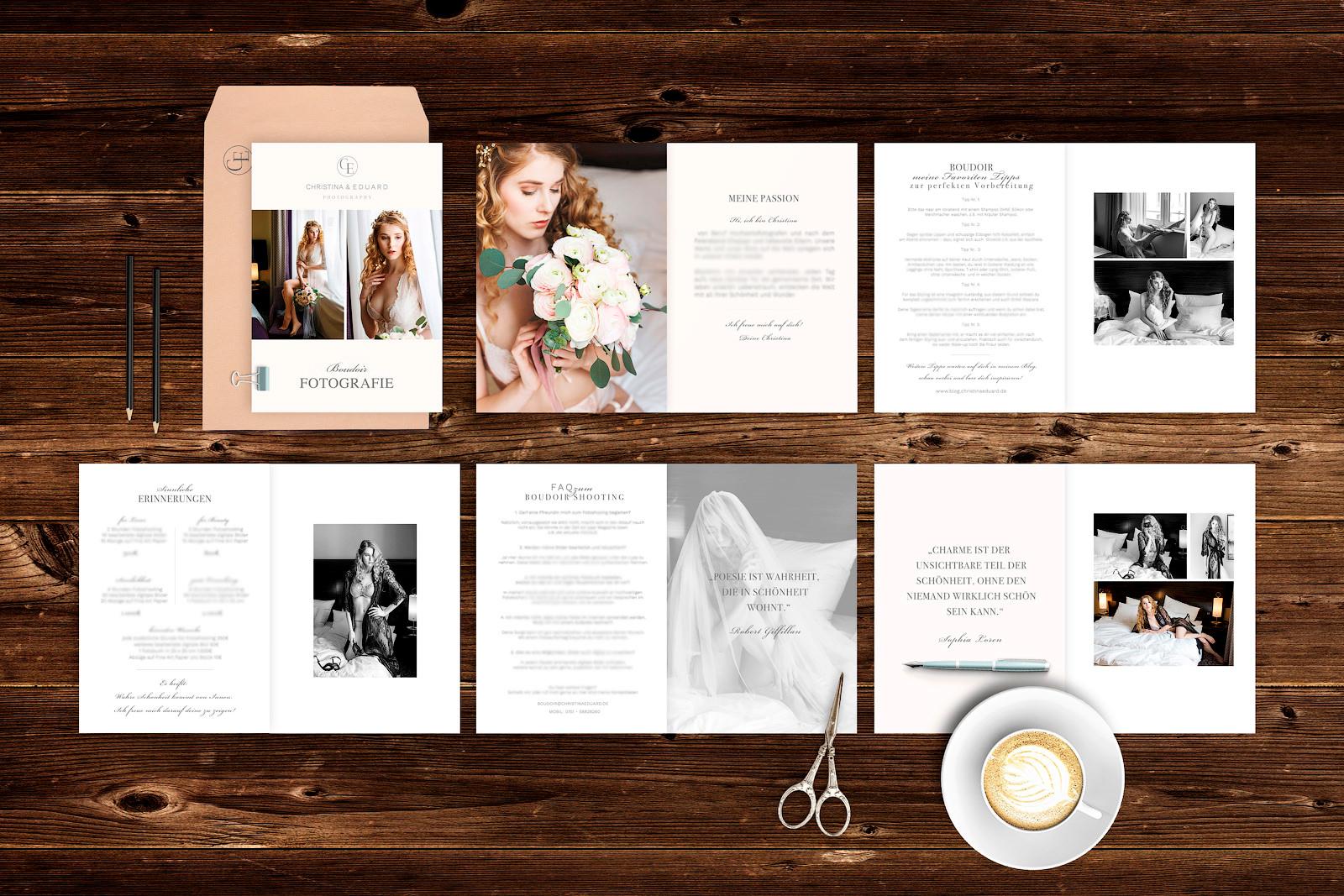 editierbare Vorlagen für Photoshop Preisliste Fotograf