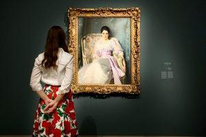 Impressionisten Ausstellung im Städel Museum, in Frankfurt am Main