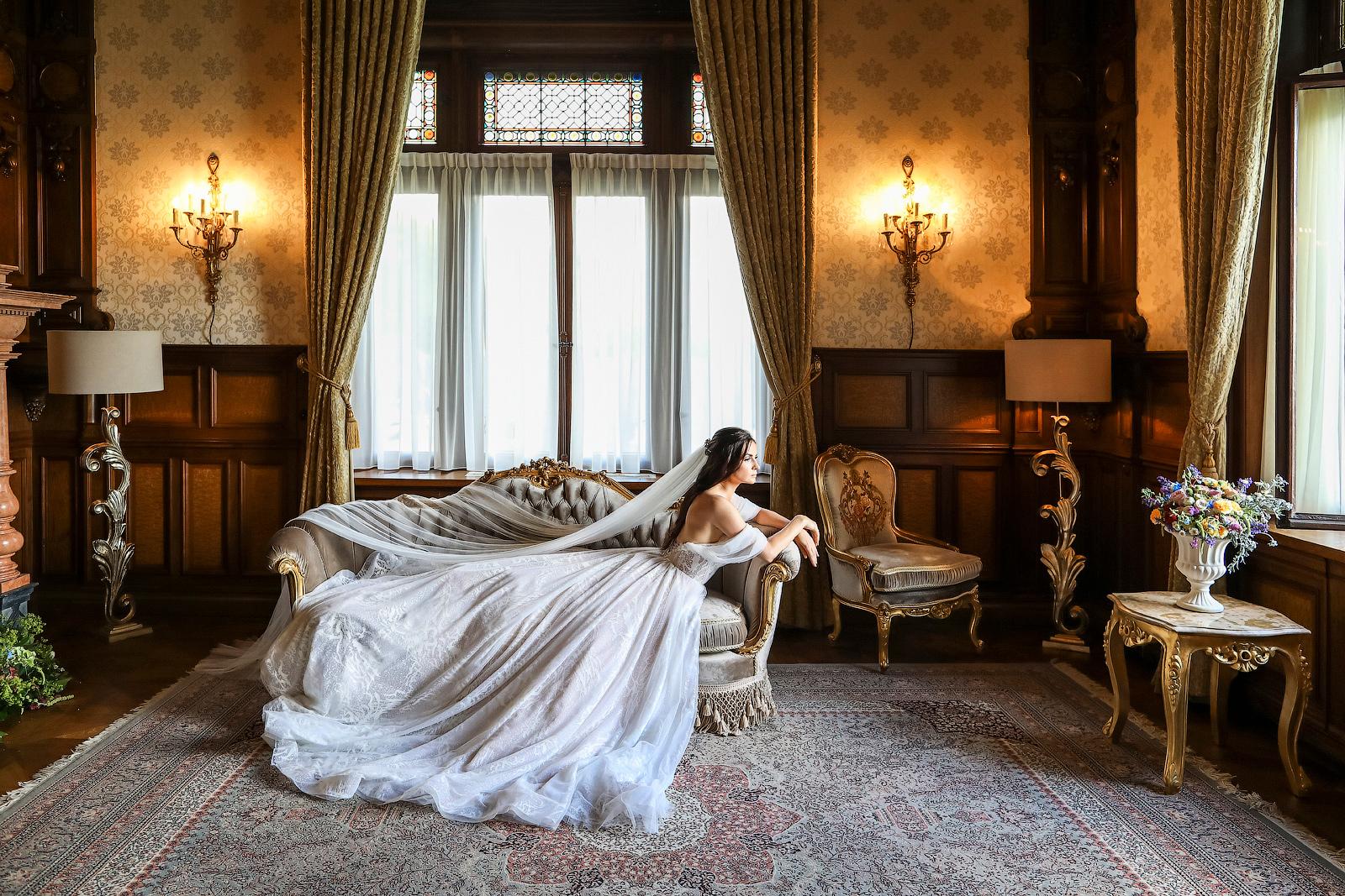 Hochzeit im Schloss Lieser, Brautfotos.