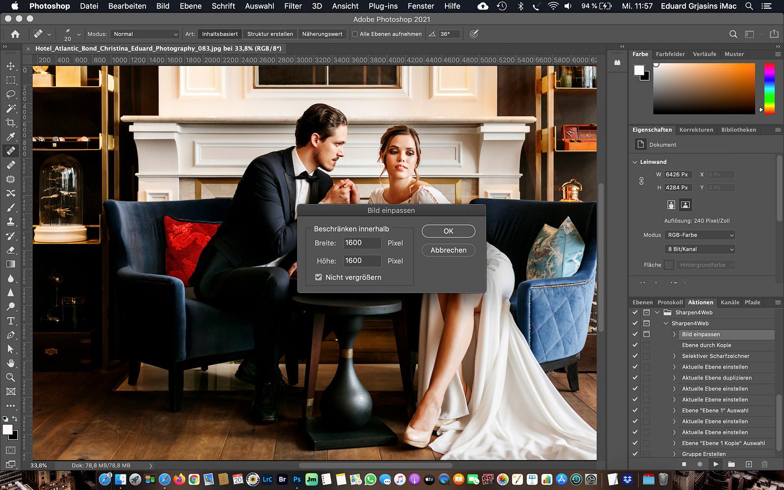 Fotos für Internet optimieren